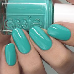 Turquoise creme nail polish Blue Press, Opi Collections, On October 3rd, Sally Hansen, Blue Nails, Nail Trends, Essie, Spice Things Up, Pedicure