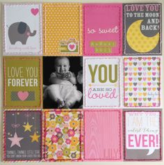 Simple Stories Snap Cards Baby Girl