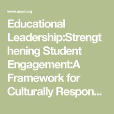 We are not in this fight to win we are in this fight to struggle educational leadershipstrengthening student engagementa framework for culturally responsive teaching fandeluxe Image collections