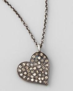 Diamond Heart Pendant Necklace by Zoe Chicco at Neiman Marcus.