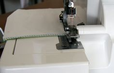 How to finish serger tails.