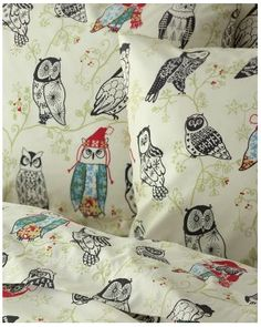 Owl sheets: I can see sweet Cooper sleeping on these sheets (Auntie Brandi loves you) :P
