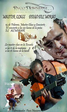 MASTER CLASS DIEGO DEL MORAO EN ESCUELA PACO NAVARRO. Fundación Guitarra Flamenca. www.fundacionguitarraflamenca.com