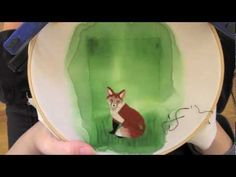 Fox Embroidery - Long Version Time Lapse - How Did You Make This? Luxe DIY