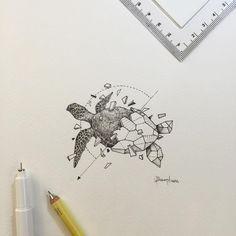Geometric Beasts | Sea Turtle - Kerby Rosanes