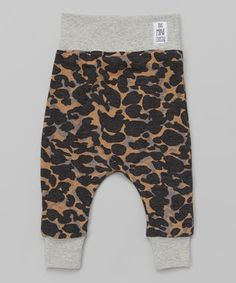 Love this Tan & Gray Camo Cropped Harem Pants - Infant, Toddler & Kids by theMINIclassy on #zulily! #zulilyfinds