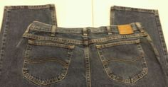 Mens Lee blue jeans 40 x 32 straight leg medium wash denim #Lee #ClassicStraightLeg