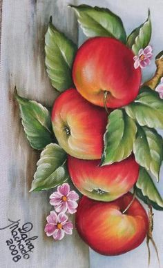 Lana Meadows's media content and analytics Fruit Painting, One Stroke Painting, Tole Painting, Fabric Painting, Painting On Wood, Watercolor Paintings, Fabric Paint Designs, Pictures To Paint, Painting Patterns