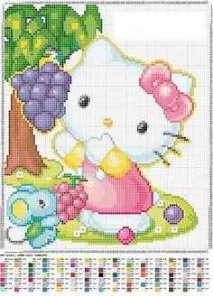 Gallery.ru / Фото #72 - διαφορ - ergoxeiro Just Cross Stitch, Cross Stitch Baby, Cross Stitch Charts, Cross Stitch Patterns, Pixel Crochet Blanket, Tapestry Crochet, Hello Kitty, Cross Stitching, Cross Stitch Embroidery
