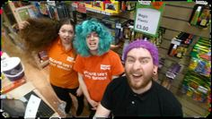 GOSH Bad Hair Day Challenge Tom and team BATH looking a little stir crazy....errr you appear to have a furb on your head Tom!