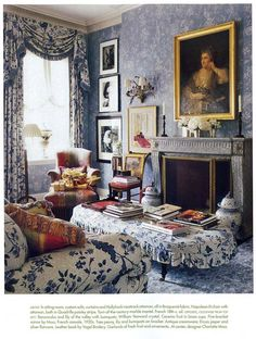images of veranda christmas | Sitting room - love this blue!