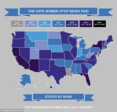Sexist stats: A new map created by Expert Market shows when women effectively start working for free in each state