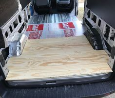 Van Conversion: Installing Row Bench Seat in Ford Transit Van Conversion Floor, Van Conversion Insulation, Van Insulation, Ford Transit Camper Conversion, Sprinter Van Conversion, Camper Van Conversion Diy, Vauxhall Vivaro Camper, Diy Bench Seat, Build A Camper