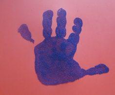 sand hand prints
