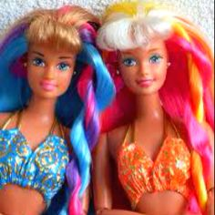 90s Barbies -- remember these? :)