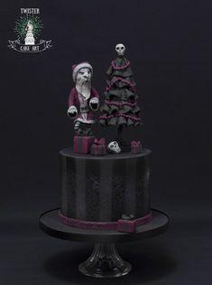 Gothic christmas cake