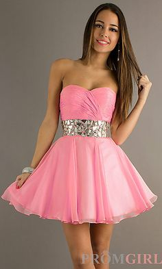 Strapless Short Prom Dress by Alyce Paris at PromGirl.com