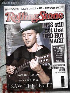 """Tom Hiddleston Page [@]Loki_Page: Tom Hiddleston... xx [#]ISawTheLight (manip)"
