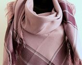 Gray Purple Blanket  Scarf, Winter fashion, Blanket scarfs, Blanket scarves,  Square scarf, Unisex, For him for her blanket, plaid