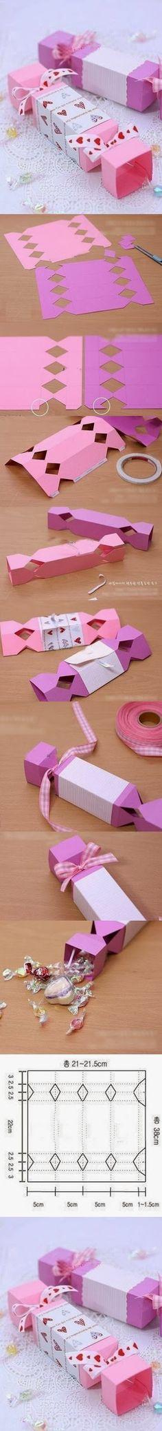 DIY : Cute Candy Gift Box | DIY  Crafts Tutorials