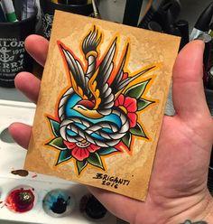 """Original watercolor """"swallow"""" / Samuele Briganti Shop"""