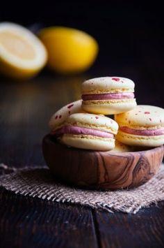 delta-breezes:  Lemon Raspberry Macarons | Hint of Vanilla