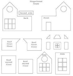 gingerbread house template