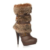 Furry boots heels ... cute with jeans!