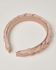 In a gorgeous dusty pink with a plaited design, this satin headband will add a chic finish to your hairdo. Oliver Bonas, Plaits, Pink Satin, Dusty Pink, Sewing Patterns, Detail, Chic, Bracelets, Gold