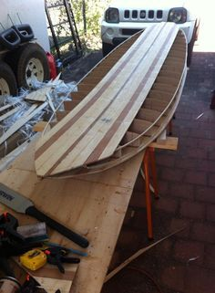 Build a hollow wood surfboard from Wood Surfboard Supply with kits and materials www.woodsurfboardsupply.com