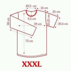 XXXL T Shirt Sewing Pattern, Boys Sewing Patterns, Pattern Drafting, Pants Pattern, Clothing Patterns, Dress Patterns, Patron T Shirt, Camisa Slim, Sewing Blouses