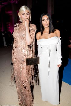 Flying solo: Kylie and Kendall's big sister Kim Kardashian partied at the event without her rapper husband Kanye West