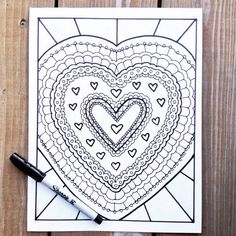 Printable Adult Coloring Pages Love by PaisleyandHazel on Etsy