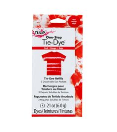 Tulip One-Step Fashion Dye Refill - Red Diy Tie Dye Socks, Diy Tie Dye Shirts, Azul Tie Dye, Diy Tie Dye Kit, First Aid Treatment, Tie Dye Party, Tie Dye Crafts, One Step, Party Kit