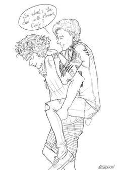 Flower Child!Harry & Punk!Louis