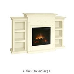 DIY faux fireplace/ TV stand for the bedroom. Add candels for a romantic ambiance.