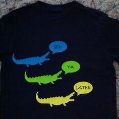 Alligator t-shirt made with Silhouette heat transfer--love this stuff!