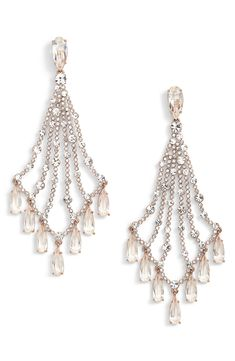 kate spade earrings for weddings - cascade drop earrings - - Bridal Earrings, Drop Earrings, Kate Spade Earrings, Drops Design, Metal Working, Wedding Jewelry, Pearl Necklace, Pearls, Crystals