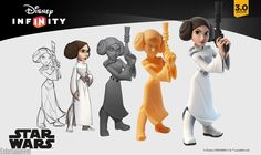 ArtStation - Disney Infinity Princess Leia Work In Progress To Finish, B Allen
