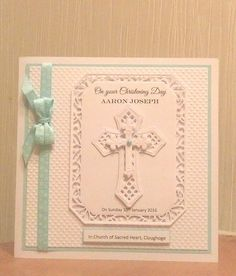 Christening card Spellbinder crosses