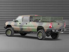 2003 Chevrolet Silverado Crew Cab military pickup 4x4