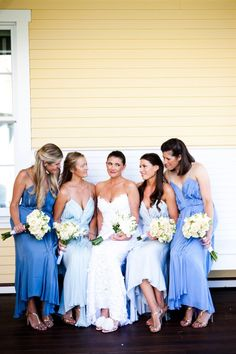 bridesmaids - different shades of same color