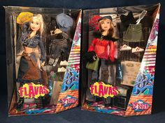 Flavas P. BO Barbie Sized Dolls with Accessories 2003 Mattel NRFB Urban Hip Hop #Mattel #DollswithClothingAccessories