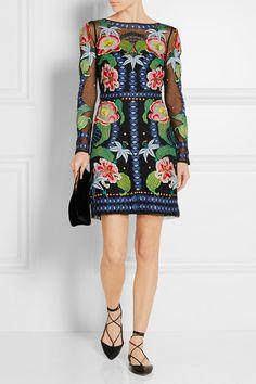 Temperley London | Carmelina embroidered tulle mini dress | NET-A-PORTER.COM