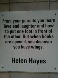 Charlotte Library Quotes _ Helen Hayes by trythesky I Love Books, Good Books, Books To Read, My Books, Reading Quotes, Book Quotes, Me Quotes, Quote Books, Writing Quotes
