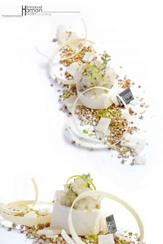 Emmanuel Hamon - Lemon and thyme Jelly , Honey mousse , Aloe vera confit , Popcorn buckwheat caramelized lime