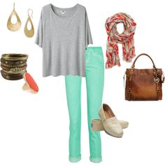 Never thought I'd say this about colored pants but I do like this:)