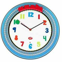 Happy Traffic Train Wall Clock by Present Time at Gilt Pillow Room, Unisex, Spinning, Craft Supplies, About Me Blog, Pillows, Happy, Train Tracks, Colorful