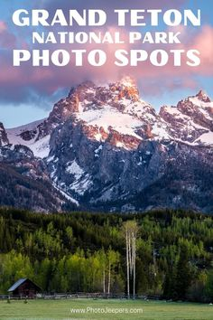 Grand Teton Photography Tips | Grand Teton Photography Map | Best Photo Spots at Grand Teton | Where to Photograph Wildlife at the Tetons | Best Places to Photograph Grand Tetons at Sunrise and Sunset #landscapephotography #nationalpark #grandteton #photojeepers National Parks Usa, Grand Teton National Park, Yellowstone National Park, Usa Travel Guide, Travel Usa, Travel Guides, How To Pose, Travel Photography, Photography Tips