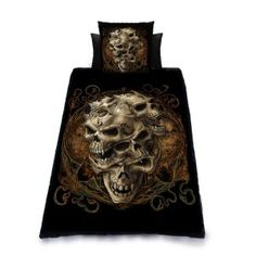 Skull Duvet And Pillowcase Cover Set 40 95 Http Skullcart Com Skull Bedroombedroom Decormacabre